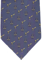 Law Tie - Scales of Justice and Gavel